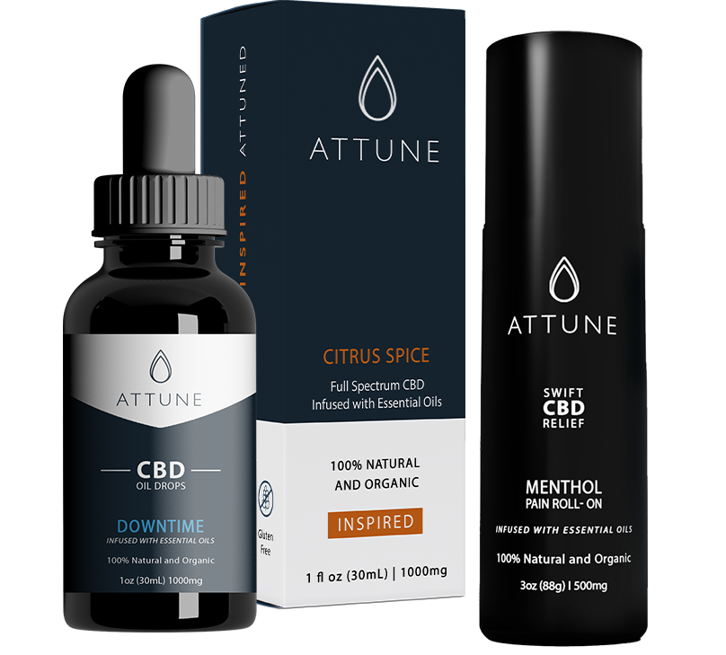 Attune CBD Drops And Roll-On Products